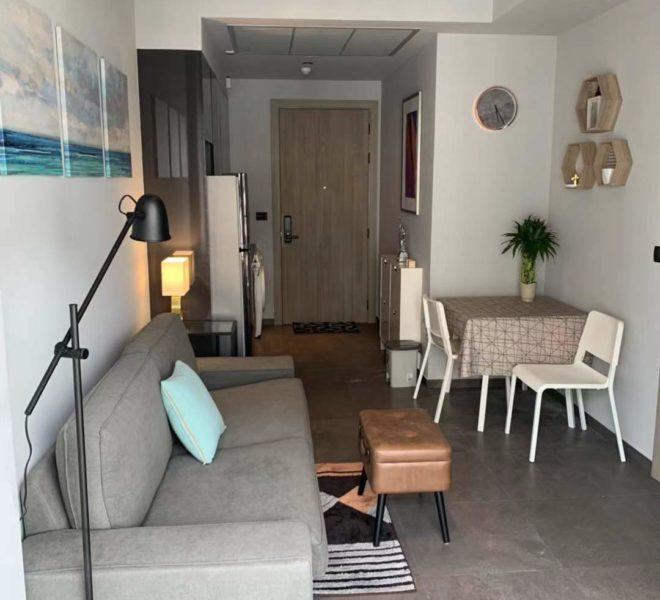 The Lofts Asoke -1b1b -Rent - High Floor - dinning