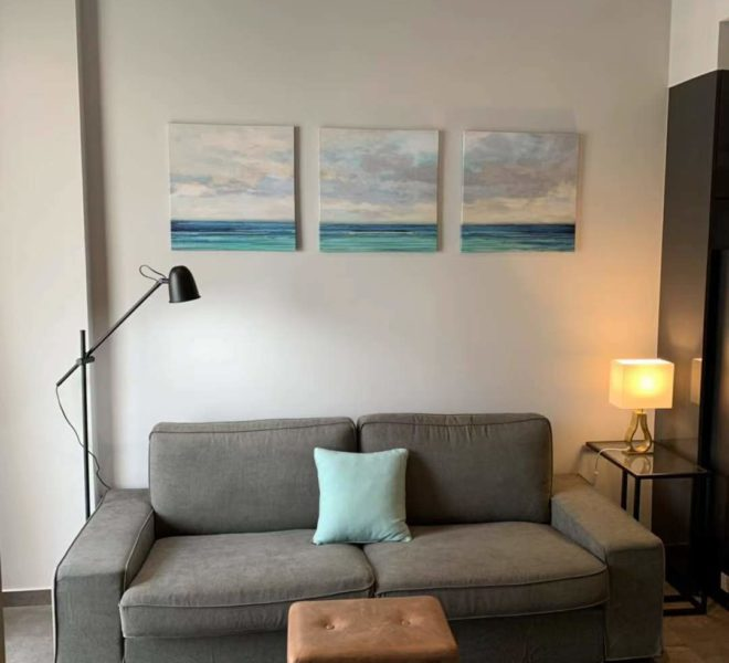 The Lofts Asoke -1b1b -Rent - High Floor - sofa