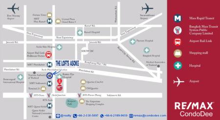 The Lofts Asoke - Luxury Condo Near University, Near MRT, and Near Airport Rail Link