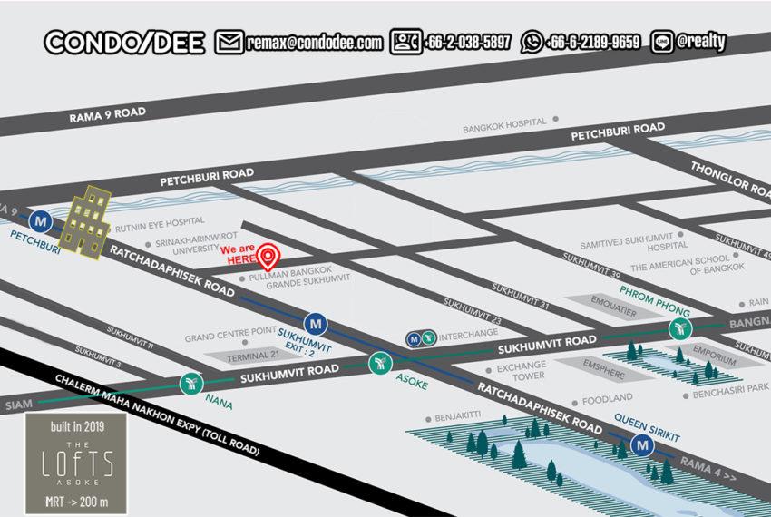 The Lofts Asoke condo map