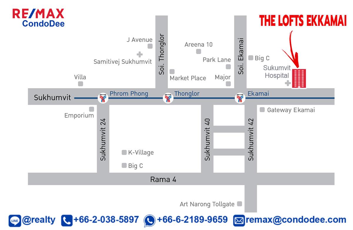 The Lofts Ekkamai - Sukhumvit Condominium Near BTS