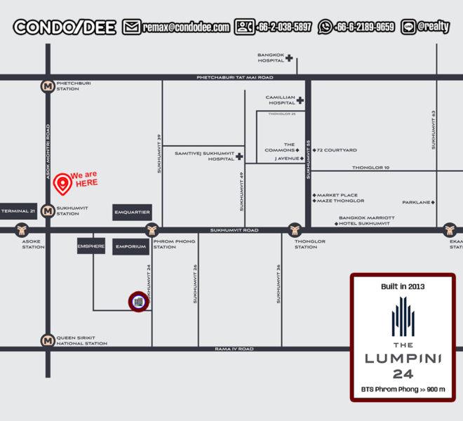 The Lumpini 24 - map