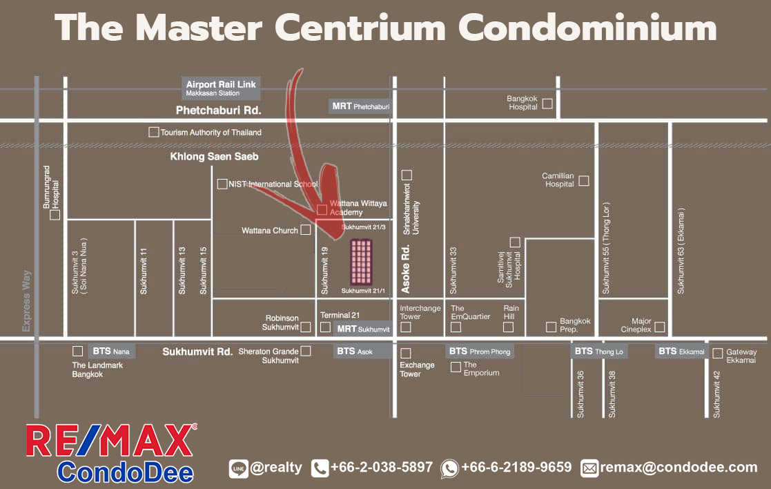 The Master Centrium-Map by REMAX CondoDee