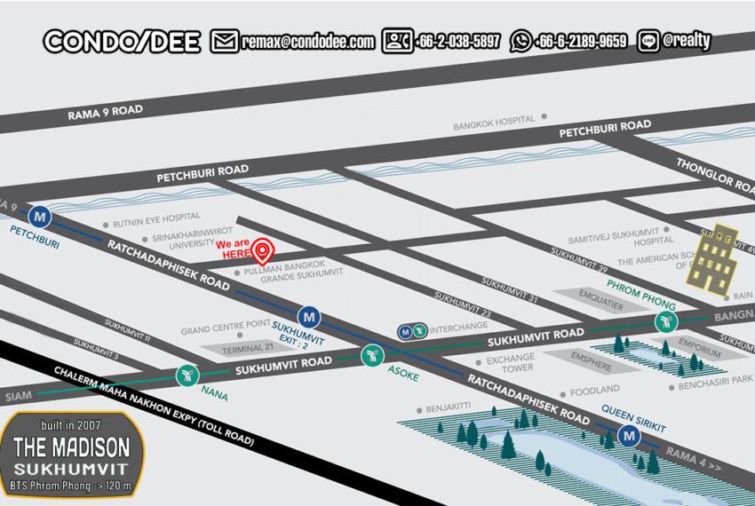 The Madisson condo Sukhumvit 41 - map