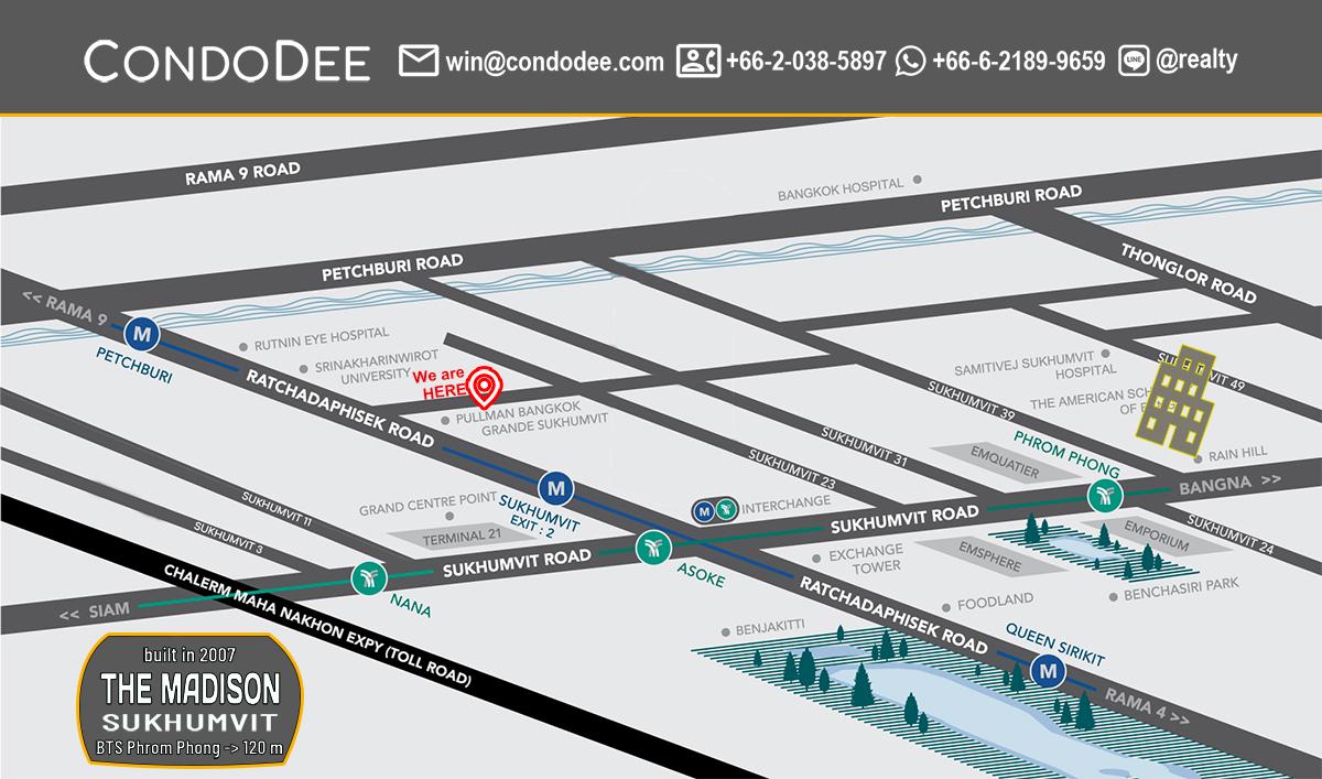 The Madison Condominium at Sukhumvit 41 Near BTS Phrom Phong