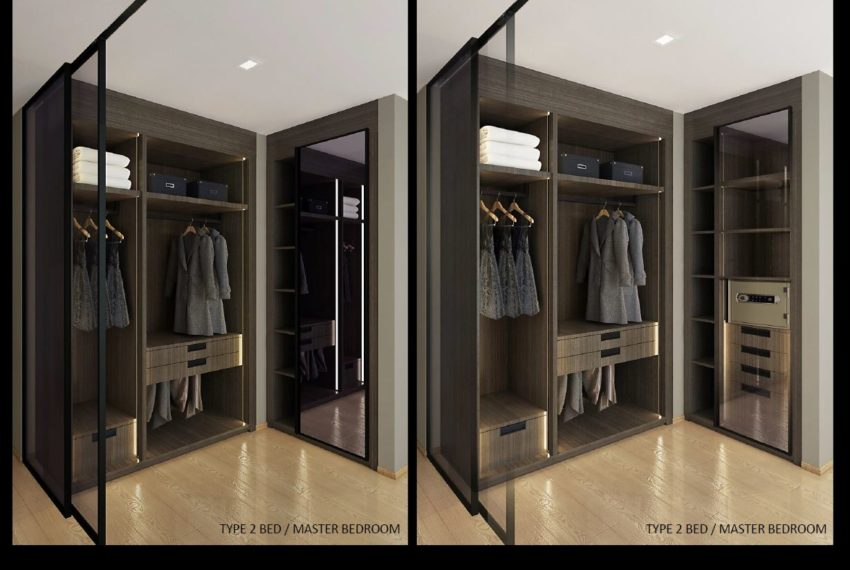 The Monument Thong Lo - 2-Bedroom - Closet