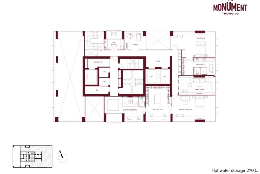 The Monument Thong Lo - Penthouse Duplex 2nd Floor Plan
