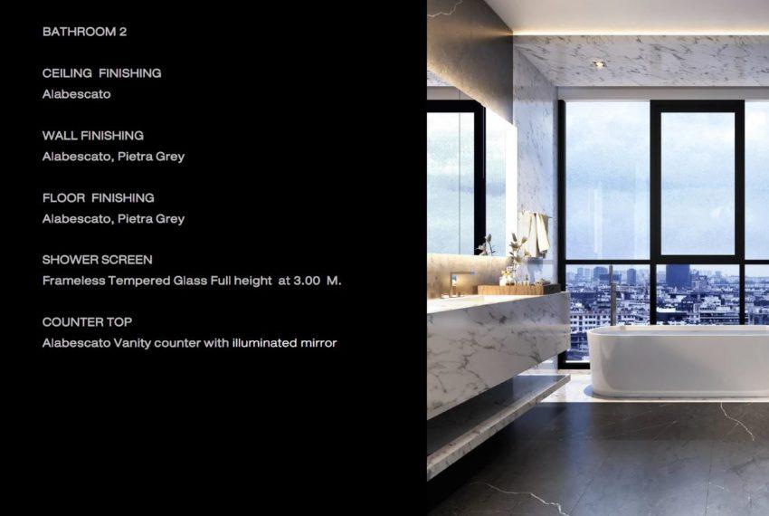 The Monument Thong Lo - Penthouse Duplex Bathroom Spec