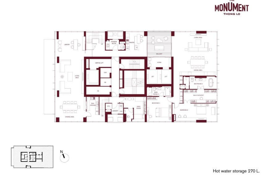 The Monument Thong Lo - Penthouse Duplex Plan