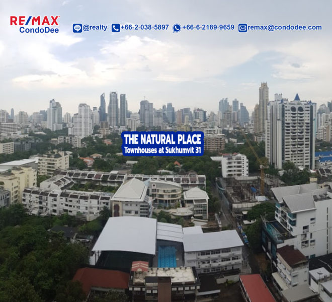 The Natural Place Sukhumvit 31 Townhouses In Asoke Near University and Channel