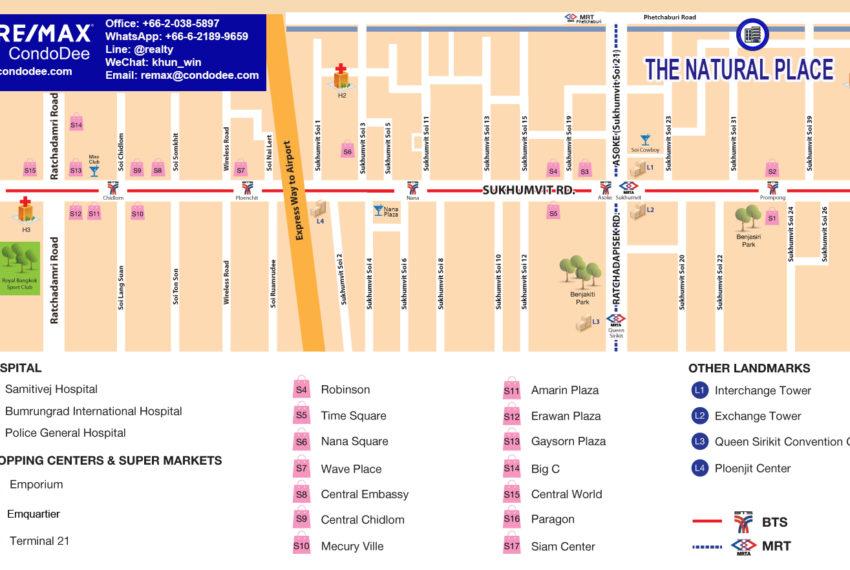 The Natural Place Sukhumvit 31 - map