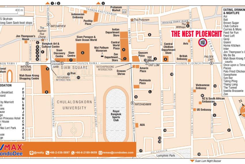 The Nest Ploenchit - map