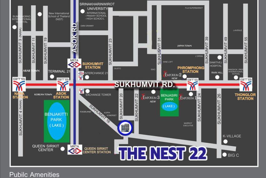 The Nest Sukhumvit 22 condo - map