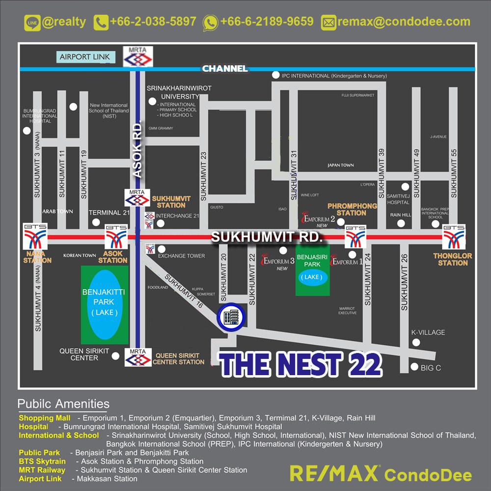 The Nest Sukhumvit 22 Low-Rise Condominium in Asoke - Phrom Phong