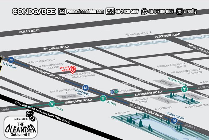 The Oleander condo - map