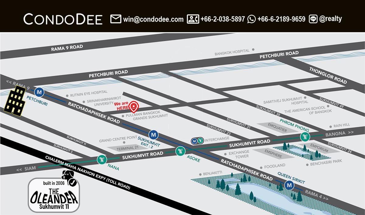 The Oleander Condominium in Nana in Sukhumvit 11