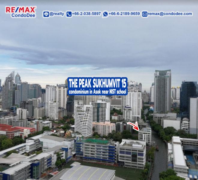 The Peak Sukhumvit 15 Condominium Near NIST School and Channel