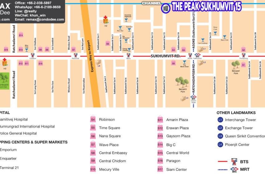 The Peak Sukhumvit 15 condo - map