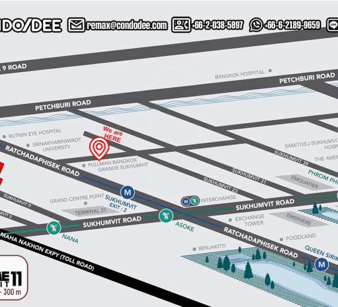 The Prime 11 condo - map