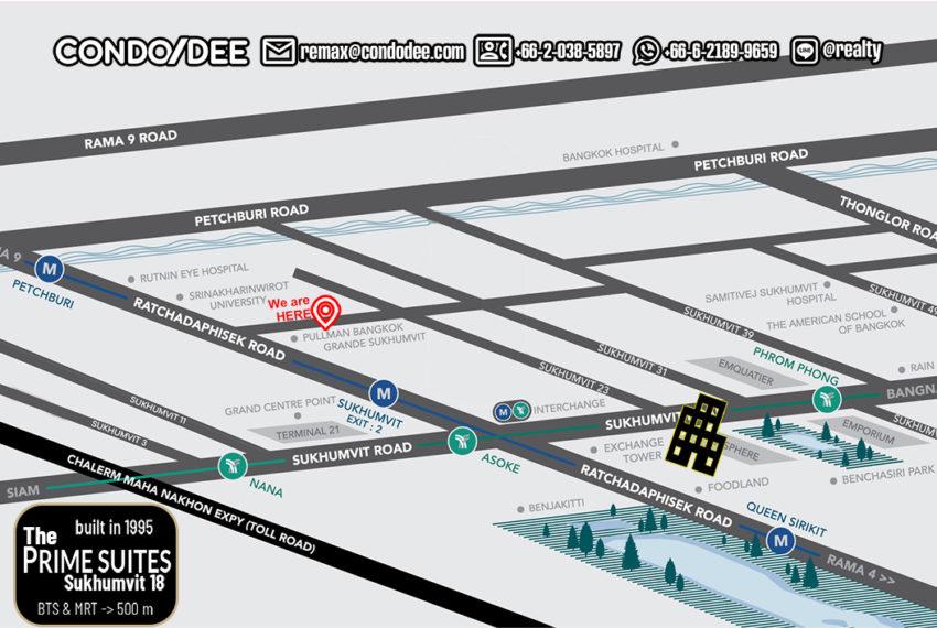 The Prime Suites Sukhumvit 18 - map