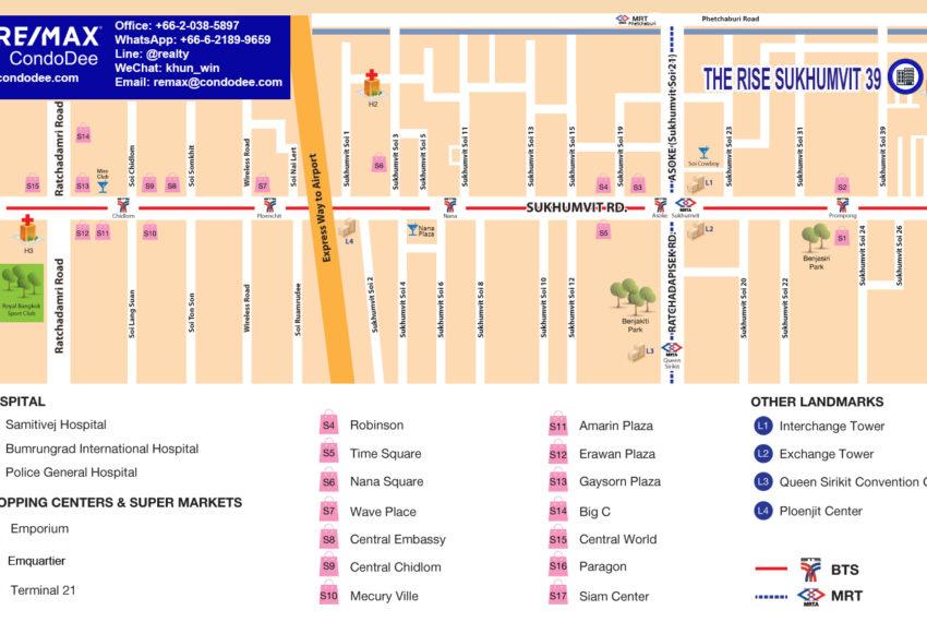 The Rise Sukhumvit 39 condo - map