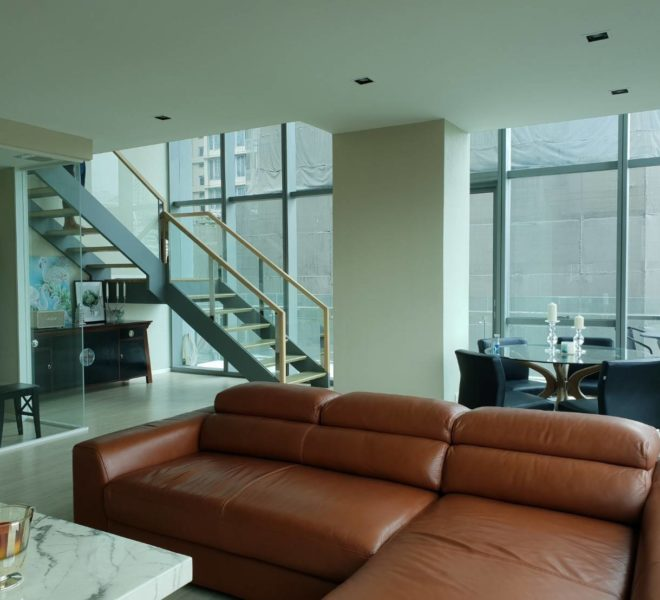 Duplex condo for sale in Asoke - Corner Unit - Large Size - Park View - The Room Sukhumvit 21
