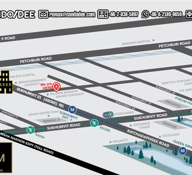 The Room Sukhumvit 21 condo - map