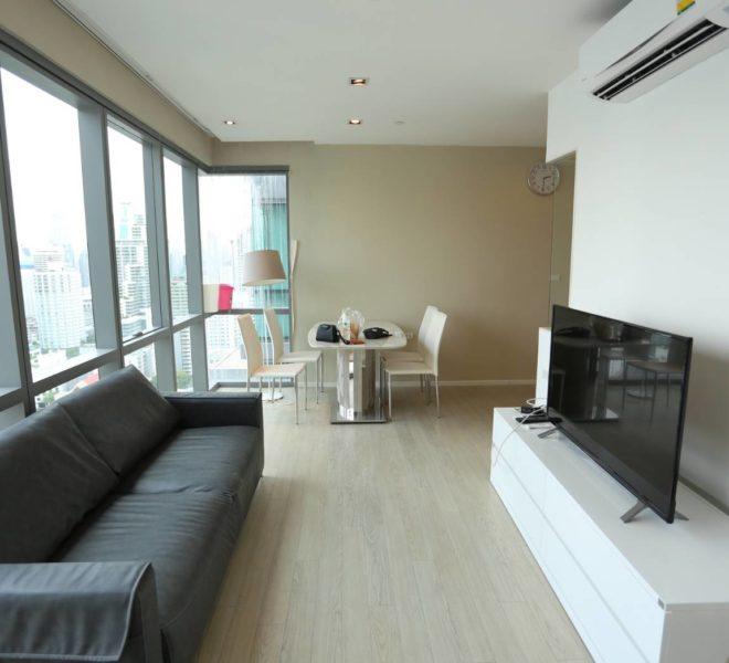 Duplex for sale in Asoke - high floor - 2 bedroom - The Room Sukhumvit 21 condominium near University