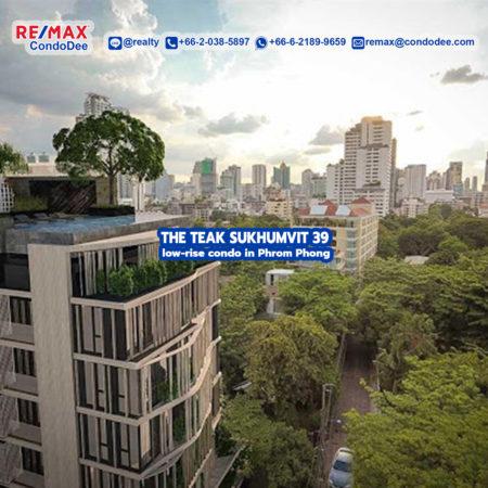 The Teak Sukhumvit 39 Low-Rise Bangkok Condominium in Phrom Phong