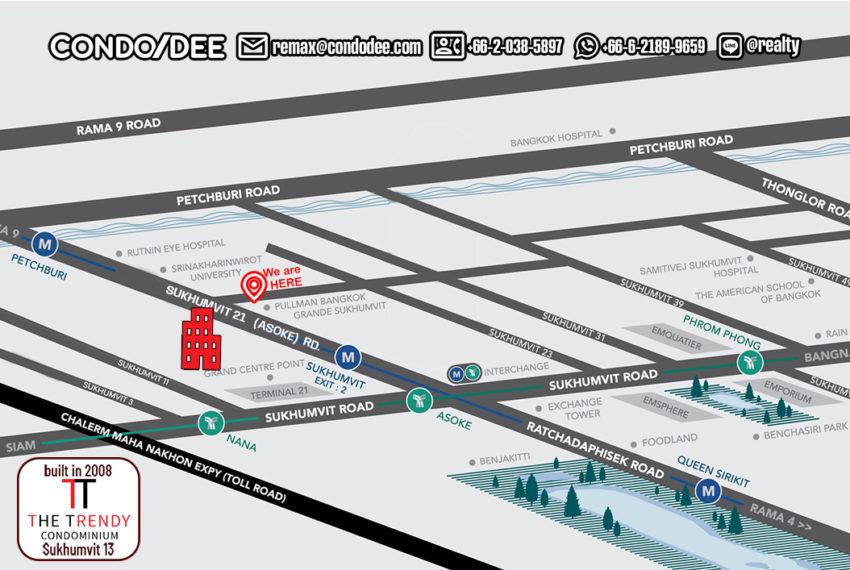 The Trendy condo - map