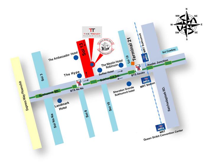 The-Trendy-condominium-map