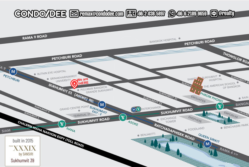 The XXXIX by Sansiri condo - map
