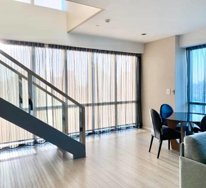 A 2-bedroom duplex condo for rent in Asoke - high floor - The Room Sukhumvit 21