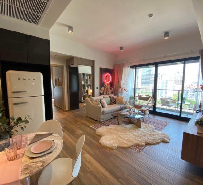 Luxury flat for rent near the University in Asoke - 2 bedroom - mid-floor - The Lofts Asoke condominium