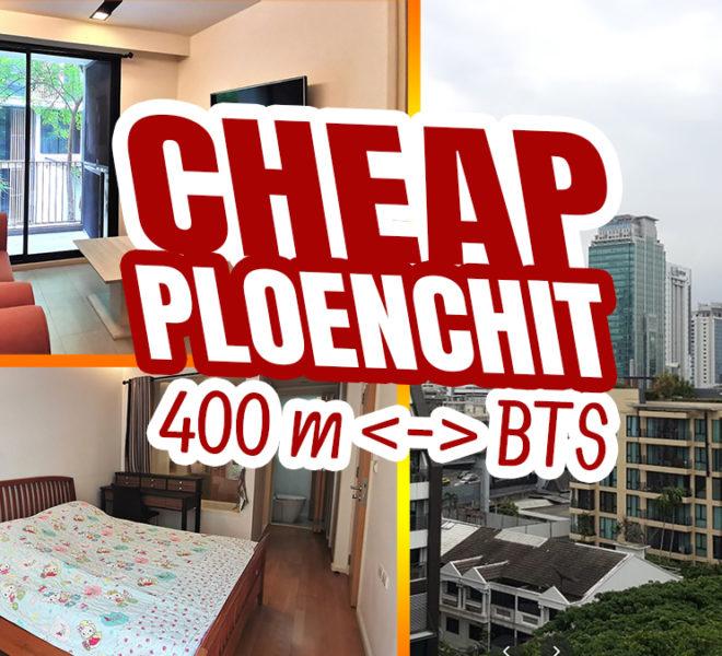 Cheap Bangkok condo near BTS Ploenchit for sale - 1-bedroom - The Nest Ploenchit