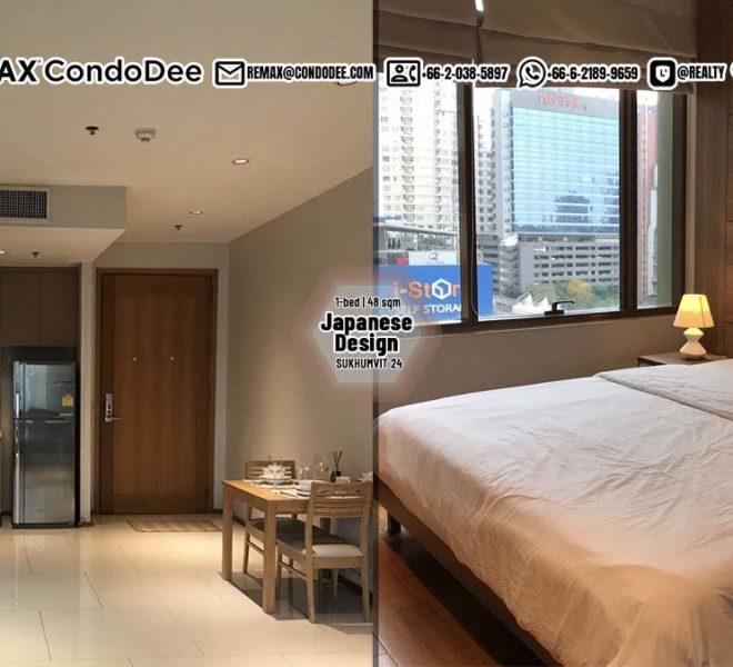 Sukhumvit 24 property for sale - 1-bedroom condo - low floor - The Emporio Place