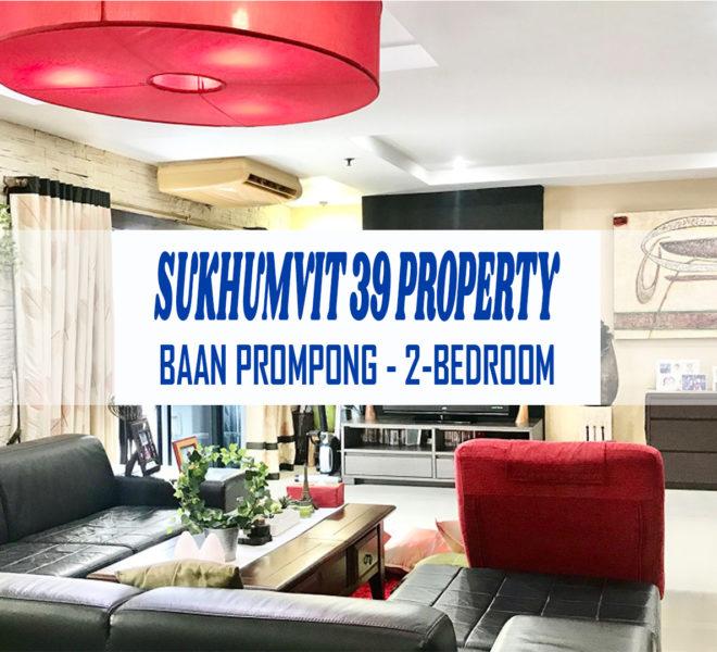 Sukhumvit 39 property for sale - 2-bedroom - mid-floor - Baan Prompong