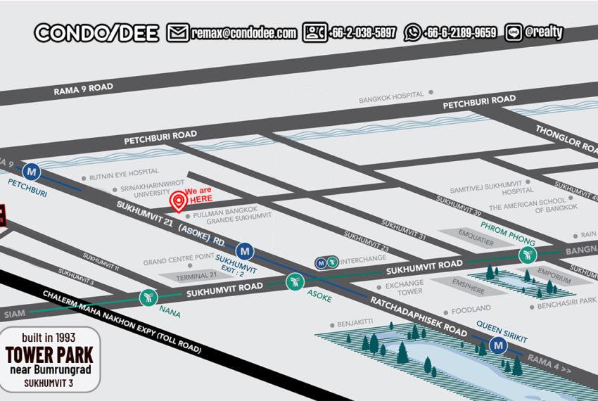 Tower park condo - map