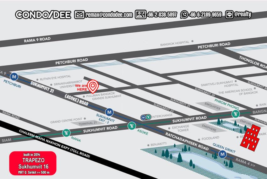 Trapezo Sukhumvit 16 condo - map