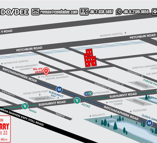 Turn Burry Sukhumvit 33 condo - map