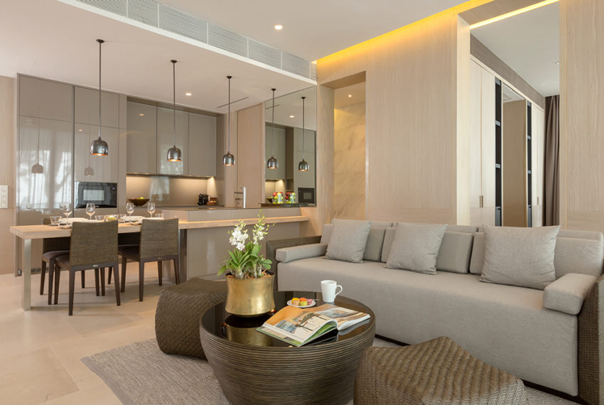 Twinpalmes Residences MontAzure - One Bedroom Show Suite - Living Room