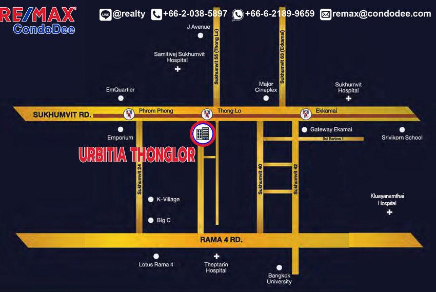 Urbitia Thonglor condo - map