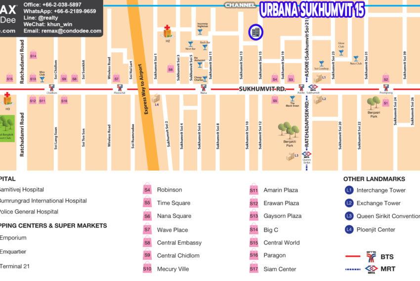 Urnaba Sukhumvit 15 condo - map