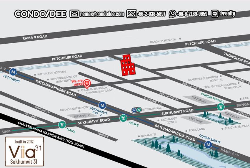 Via 31 by Sansiri - map