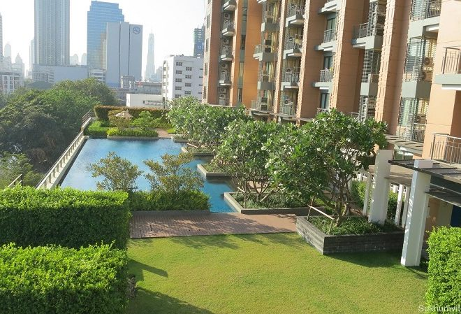 1-bedroom condo on low floor for sale in Villa Asoke