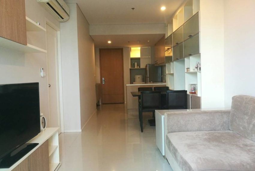 Villa-Asoke-Rent-1-bedroom-low-floor-flat-TV
