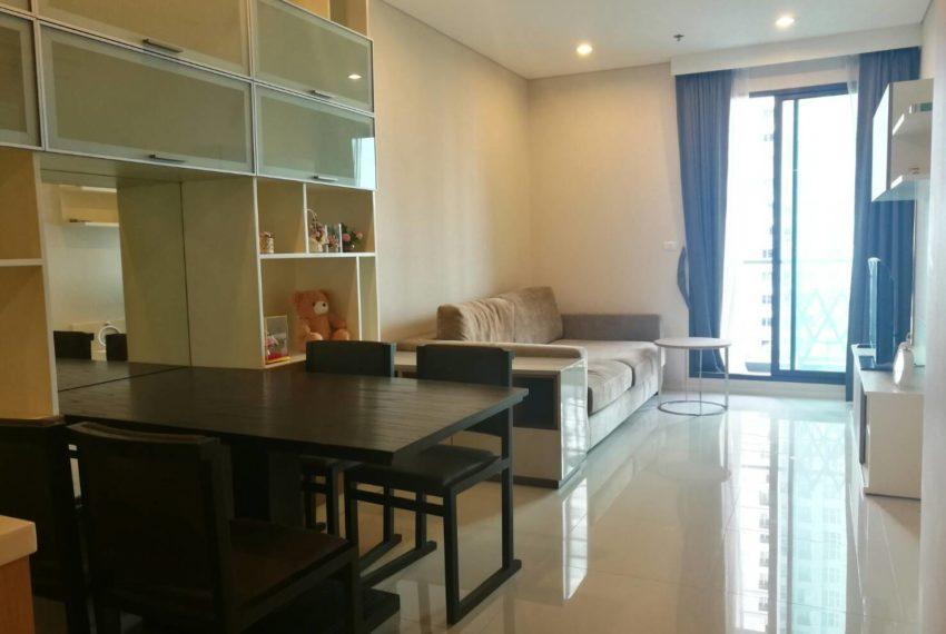 Villa-Asoke-Rent-1-bedroom-low-floor-living