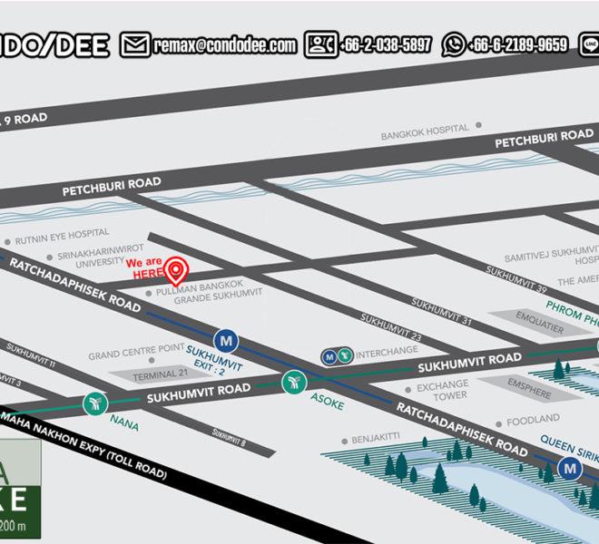 Villa Asoke condominium - map