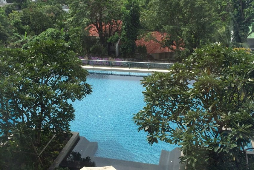 Villa Asoke duplex 1 bedroom sale low floor - green view from balcony