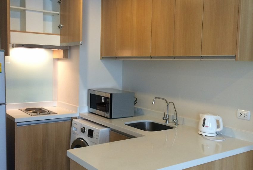 Villa Asoke duplex 1 bedroom sale low floor - kitchen
